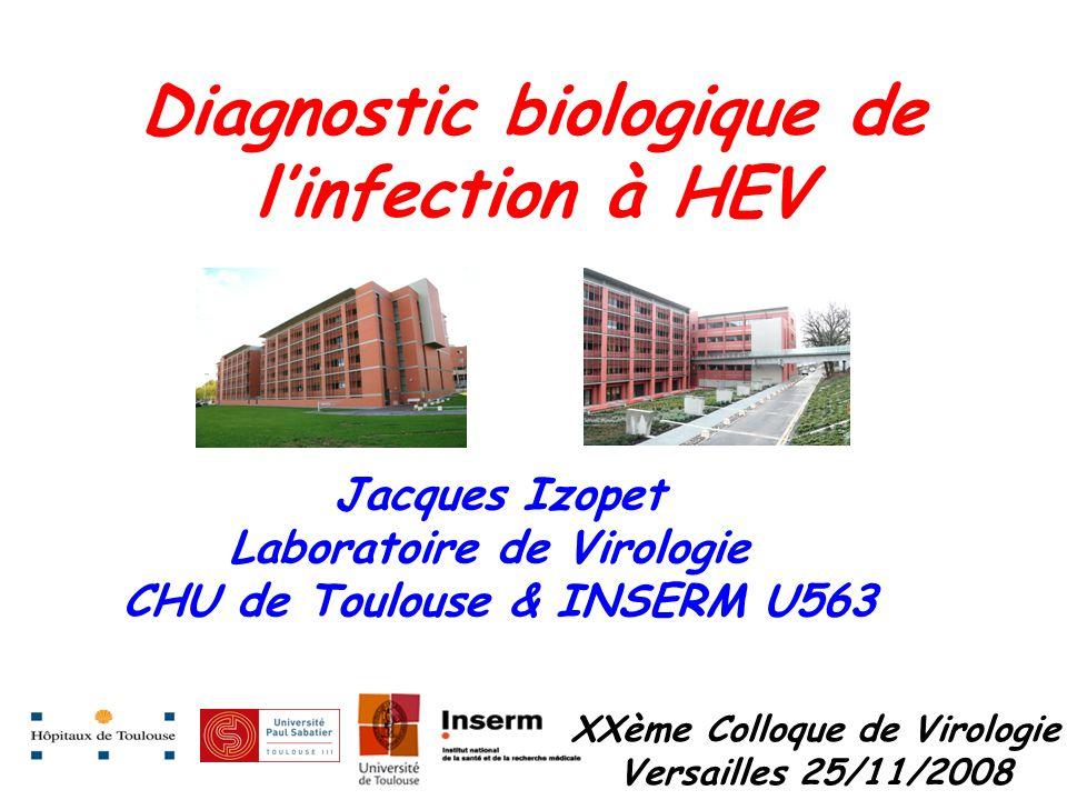 Diagnostic biologique de l'infection à HEV