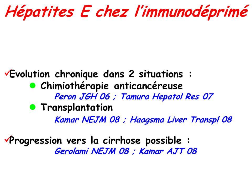 Hépatites E chez l'immunodéprimé