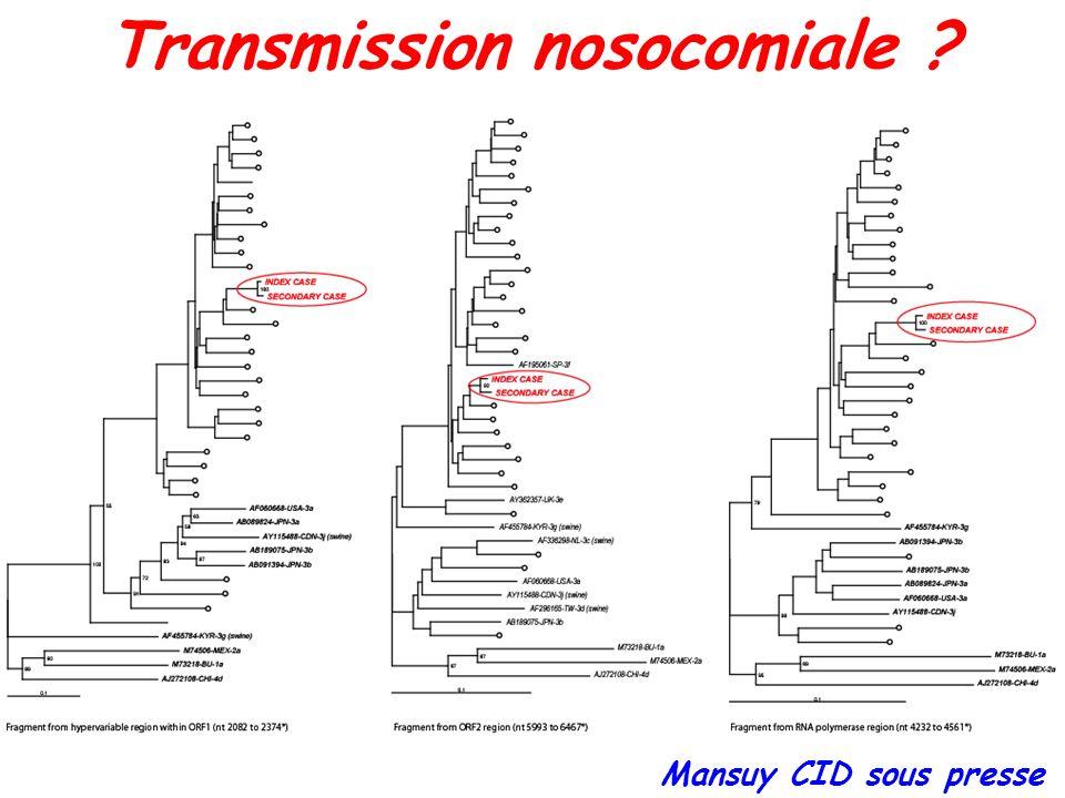 Transmission nosocomiale