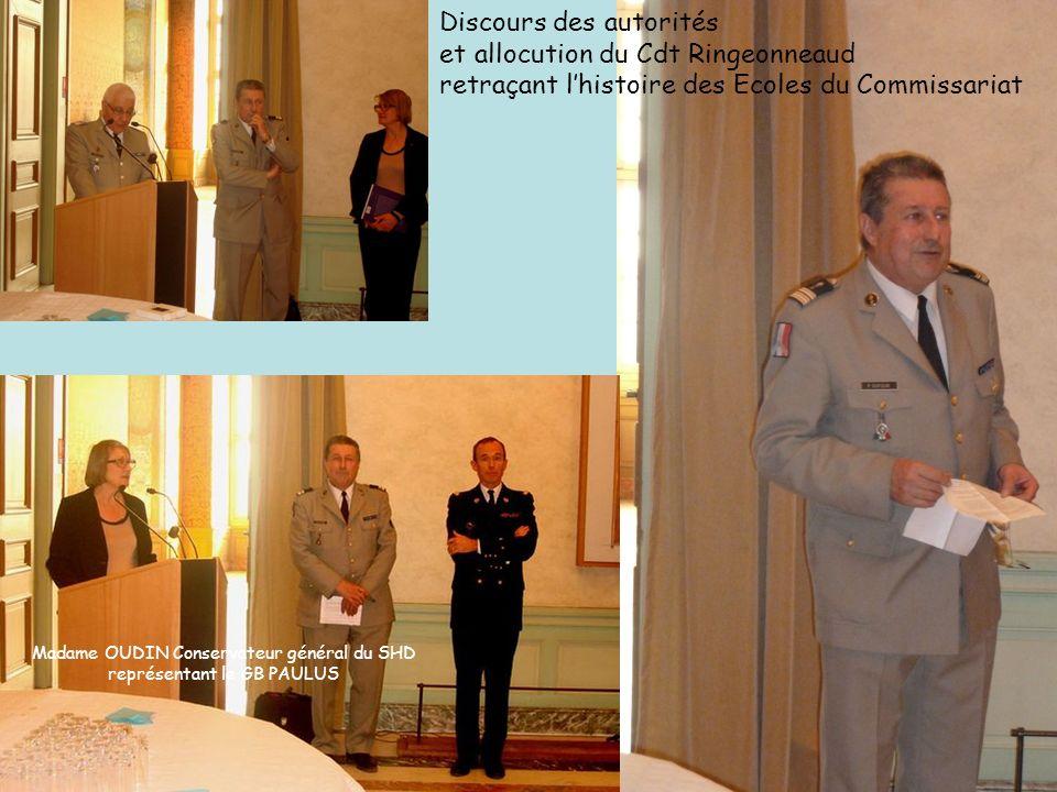 Discours des autorités et allocution du Cdt Ringeonneaud