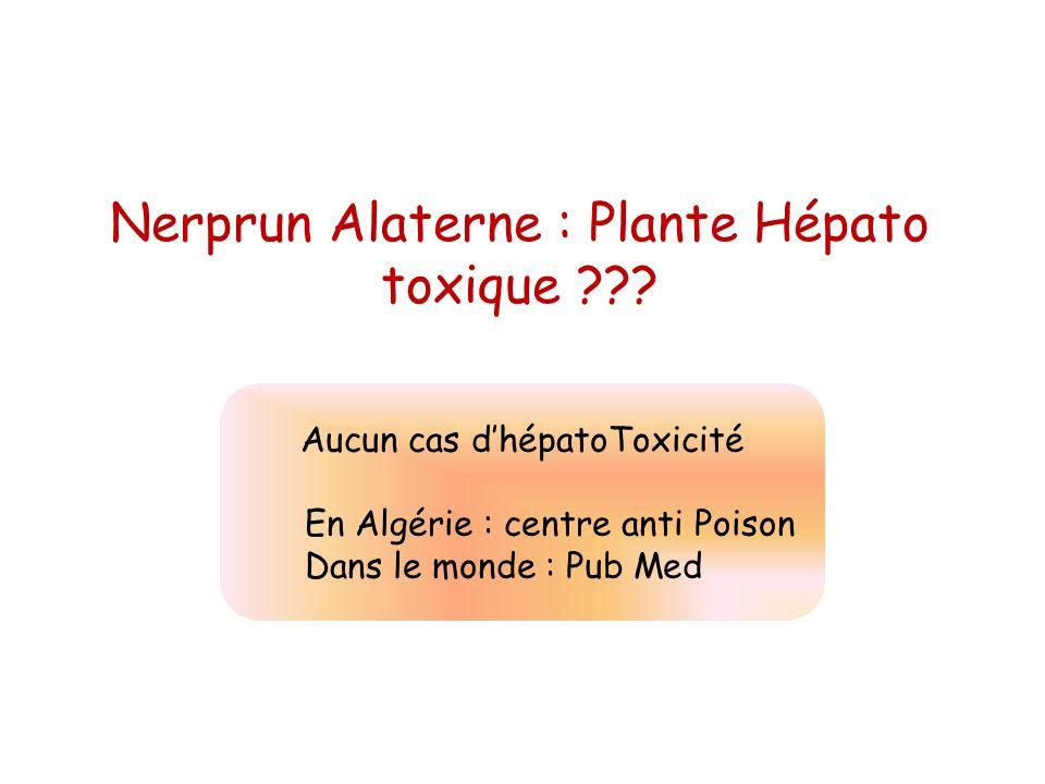 Nerprun Alaterne : Plante Hépato toxique