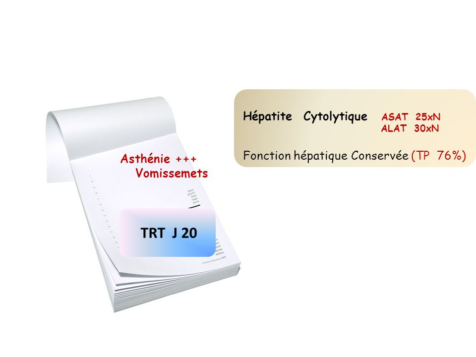 TRT J 20 Hépatite Cytolytique ASAT 25xN