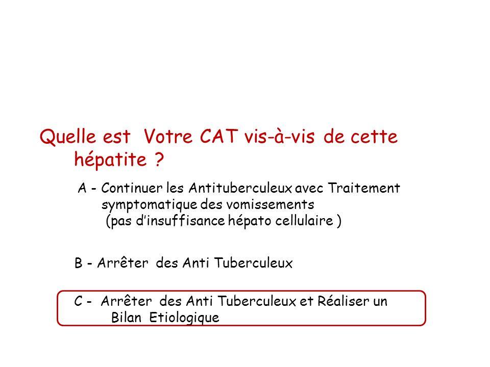 Quelle est Votre CAT vis-à-vis de cette hépatite
