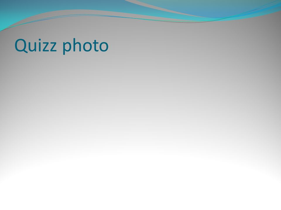 Quizz photo