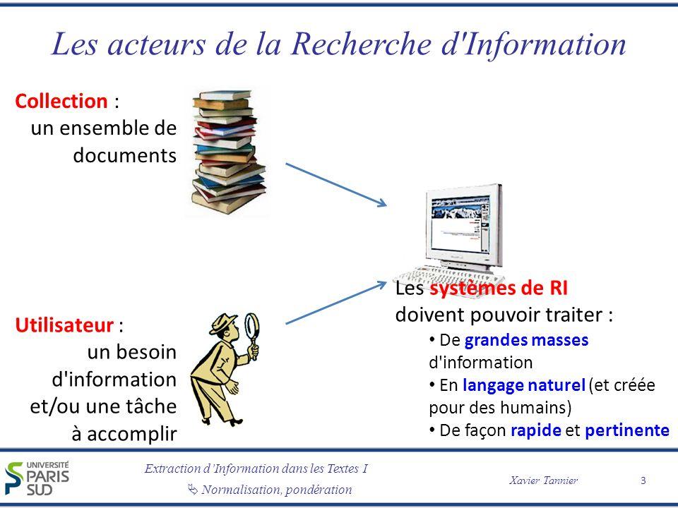 Les acteurs de la Recherche d Information