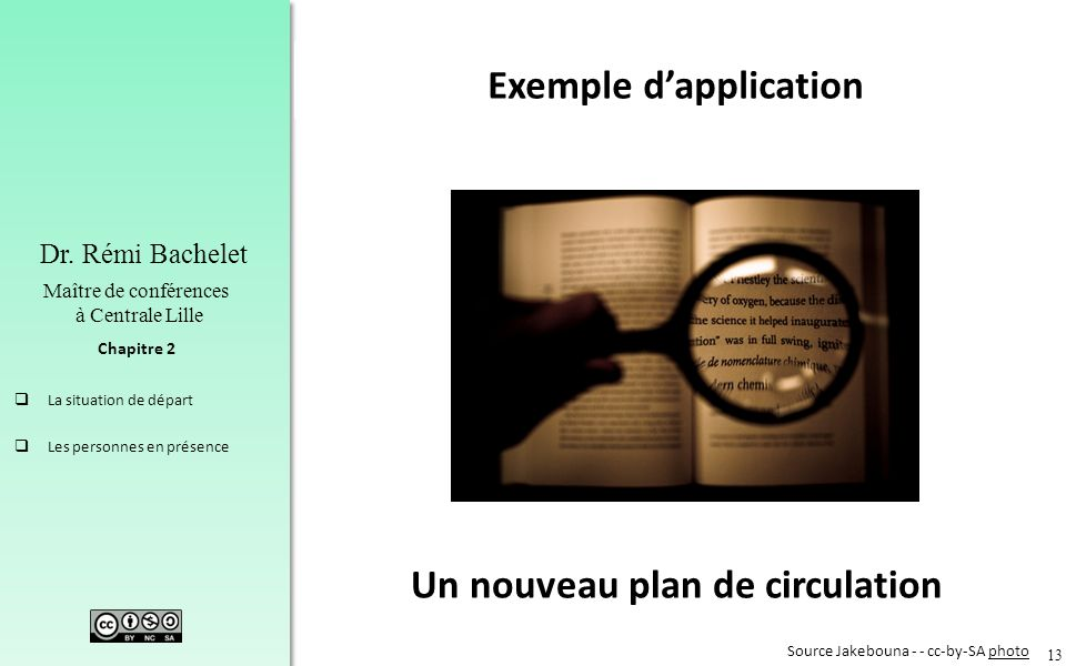 Exemple d'application Un nouveau plan de circulation