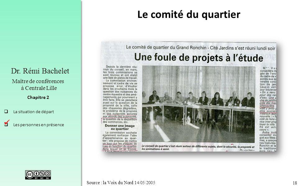 Le comité du quartier  Source : la Voix du Nord 14/05/2005