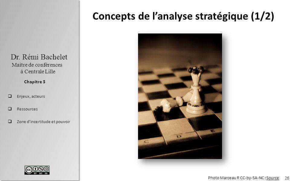 Concepts de l'analyse stratégique (1/2)