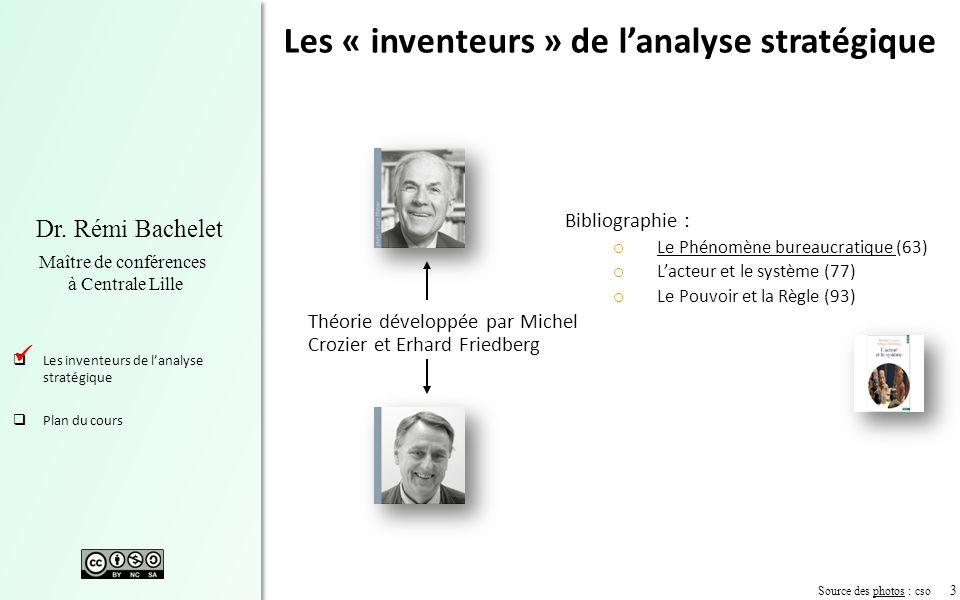 Les « inventeurs » de l'analyse stratégique