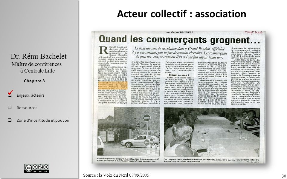 Acteur collectif : association