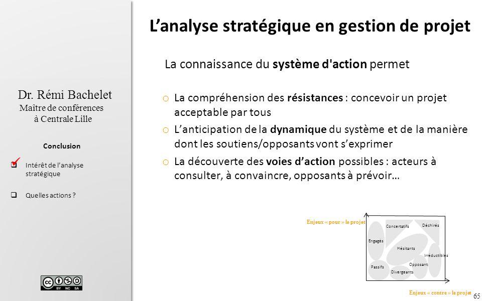 L'analyse stratégique en gestion de projet