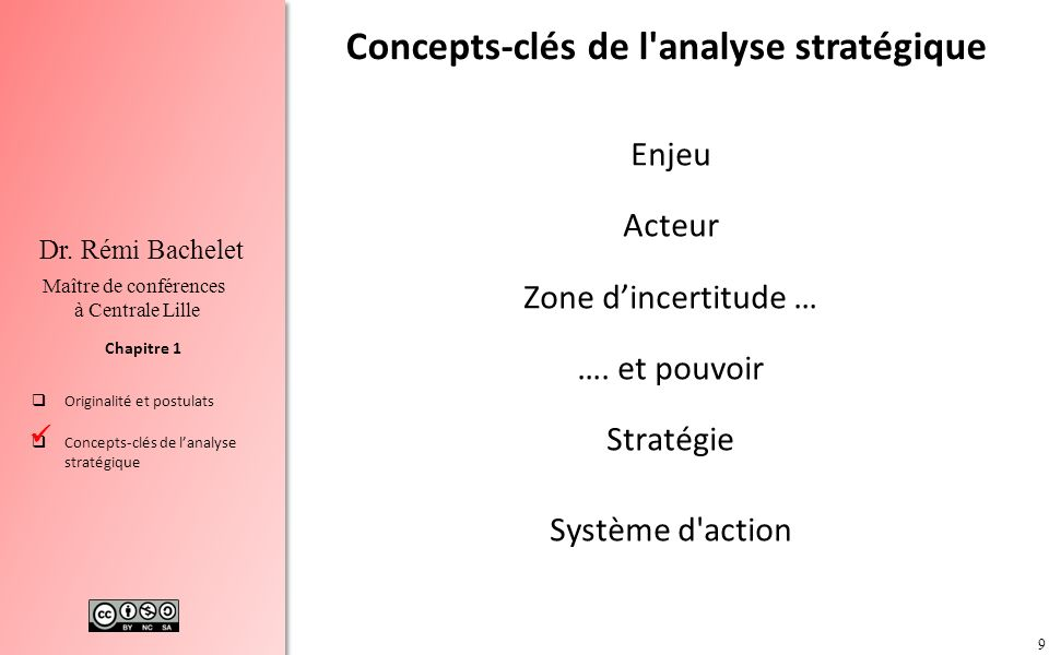 Concepts-clés de l analyse stratégique