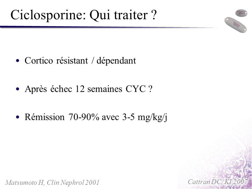 Ciclosporine: Qui traiter