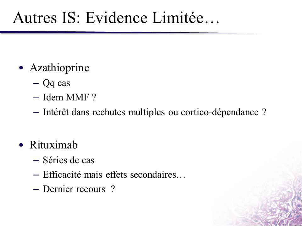 Autres IS: Evidence Limitée…