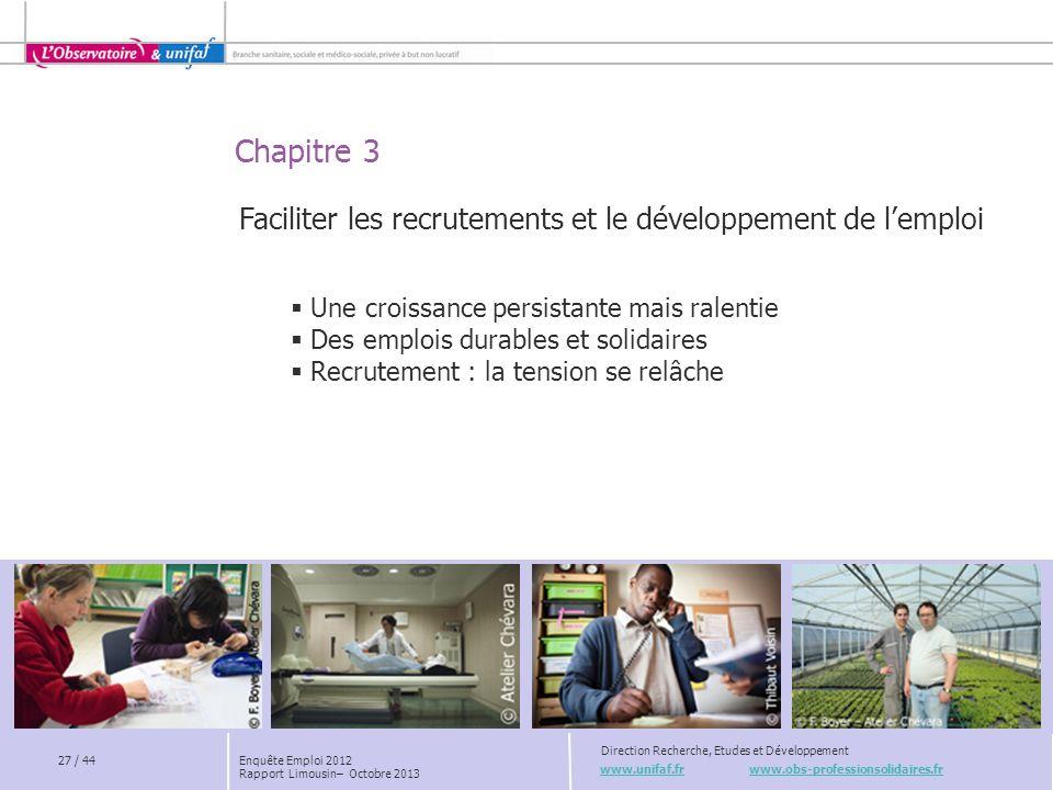 Faciliter les recrutements et le développement de l'emploi