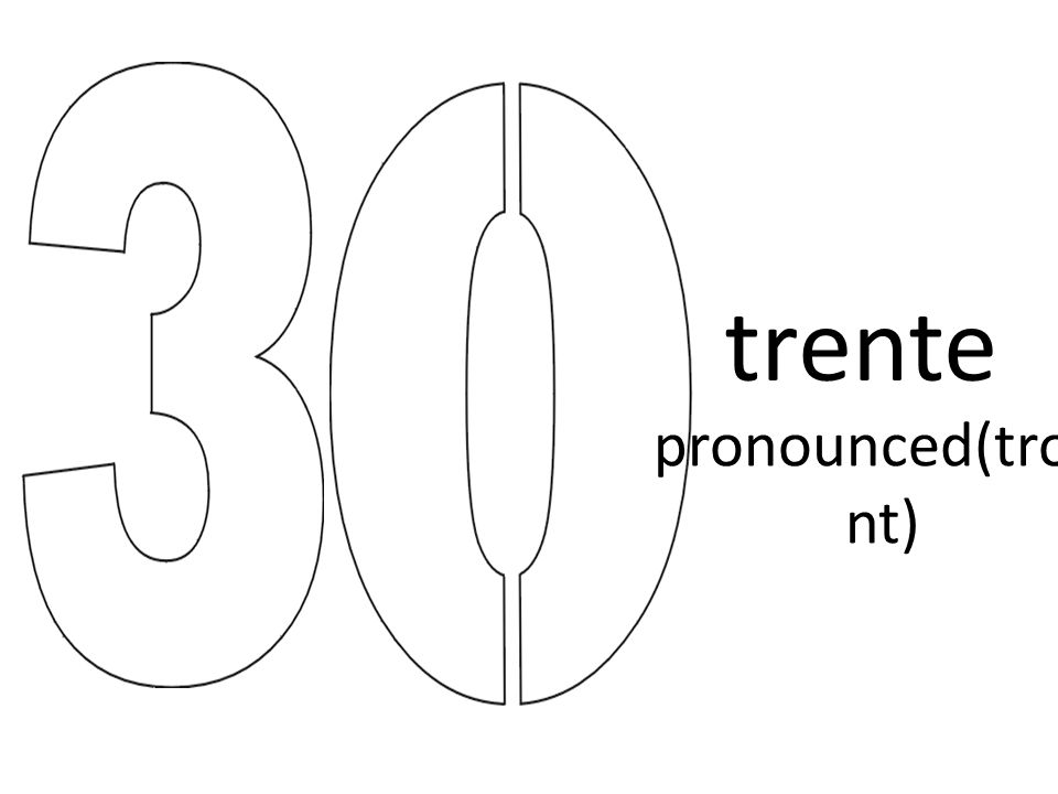 trente pronounced(tront)