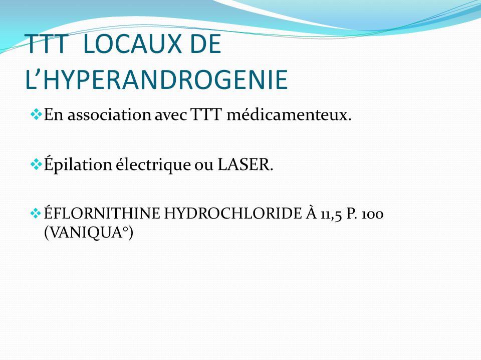 TTT LOCAUX DE L'HYPERANDROGENIE