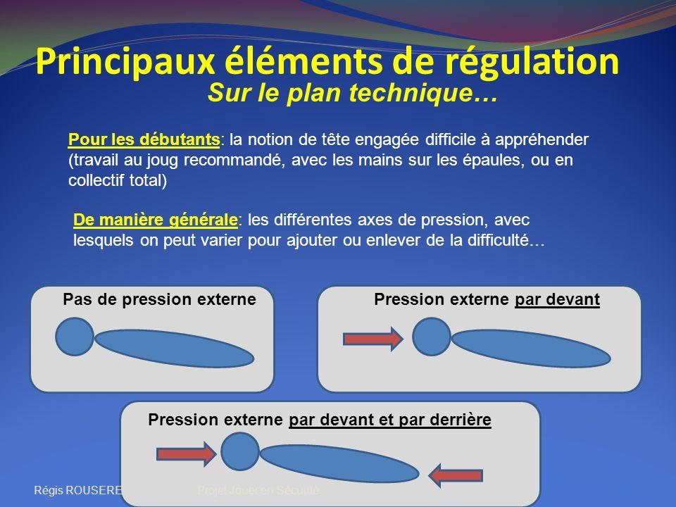 Principaux éléments de régulation