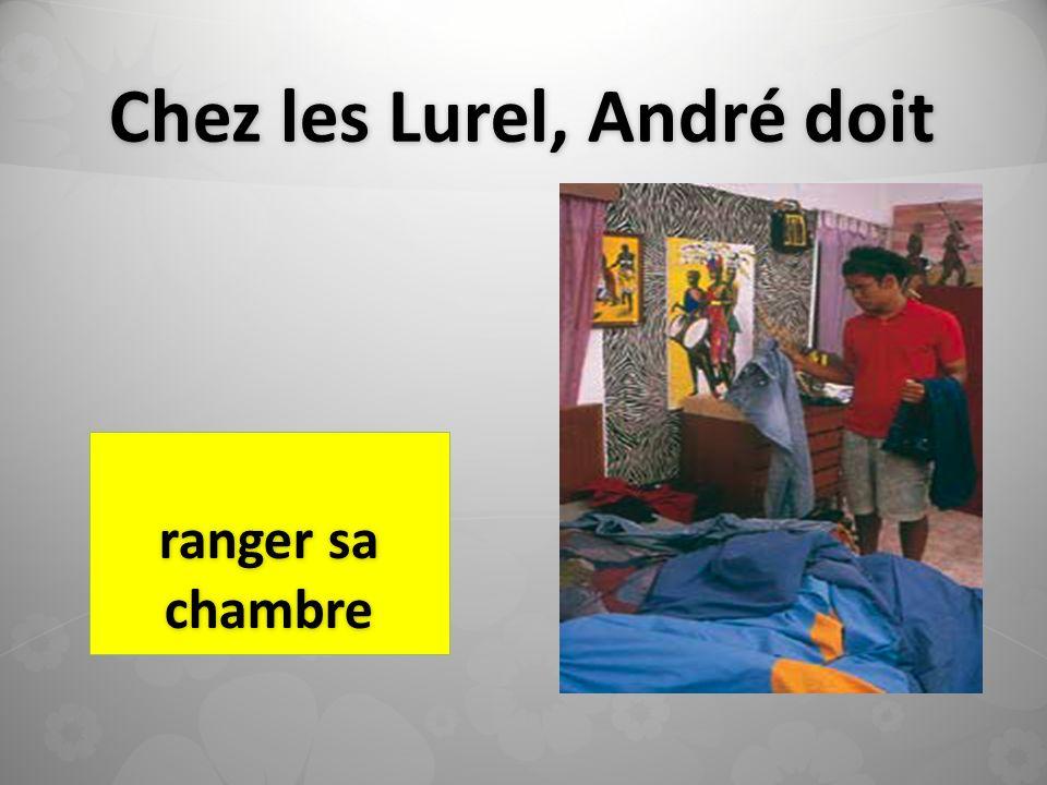 Chez les Lurel, André doit