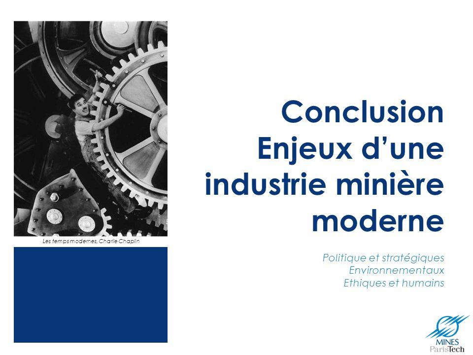 Conclusion Enjeux d'une industrie minière moderne