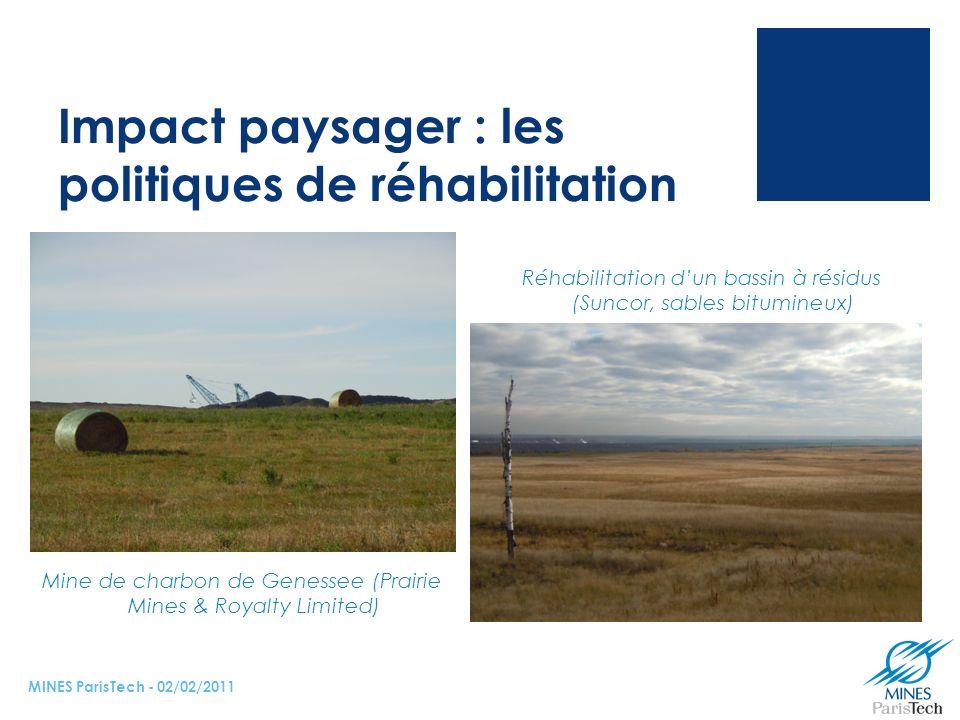 Impact paysager : les politiques de réhabilitation