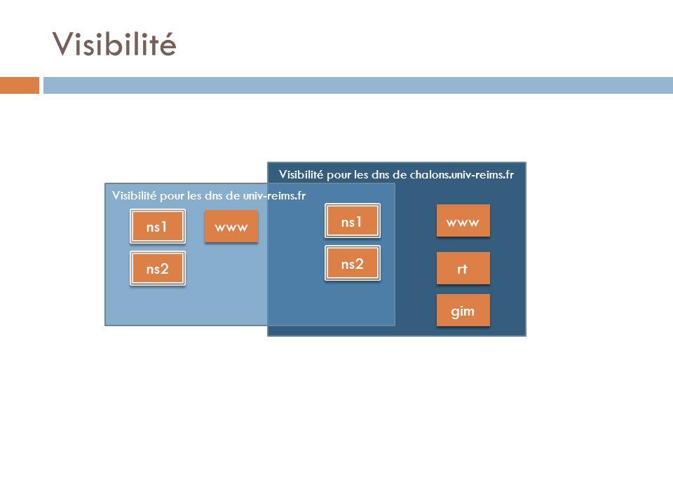 Visibilité pour les dns de chalons.univ-reims.fr