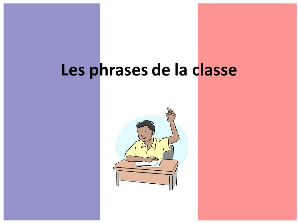 Les phrases de la classe