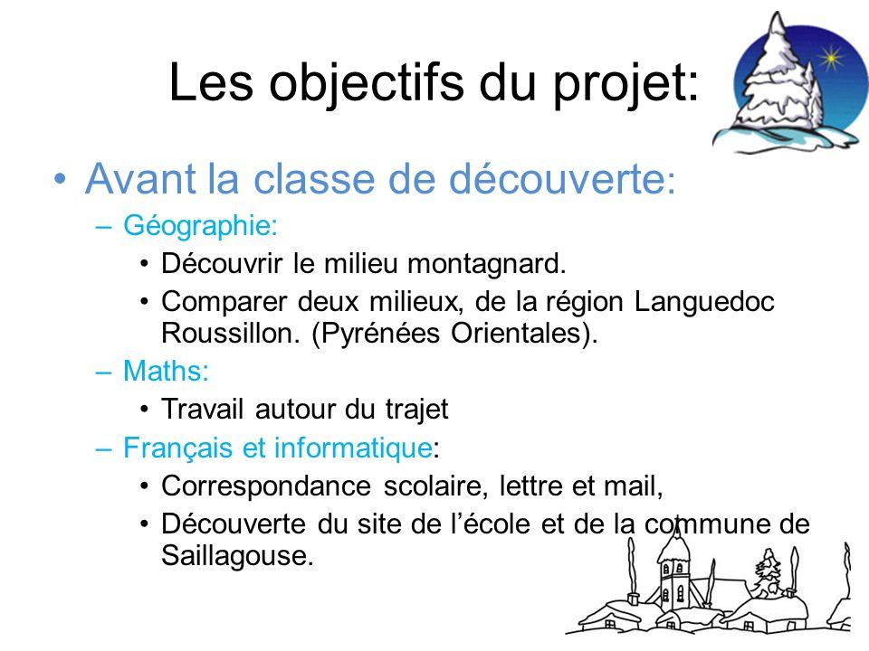 Les objectifs du projet: