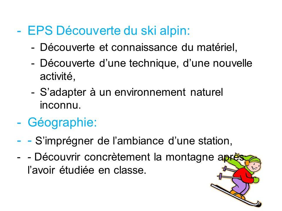 EPS Découverte du ski alpin: