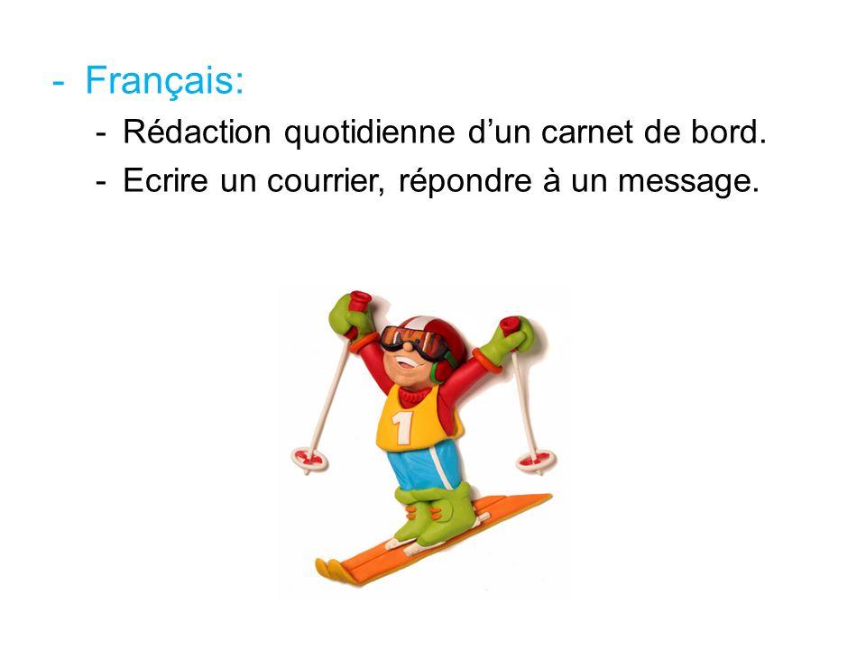 Français: Rédaction quotidienne d'un carnet de bord.