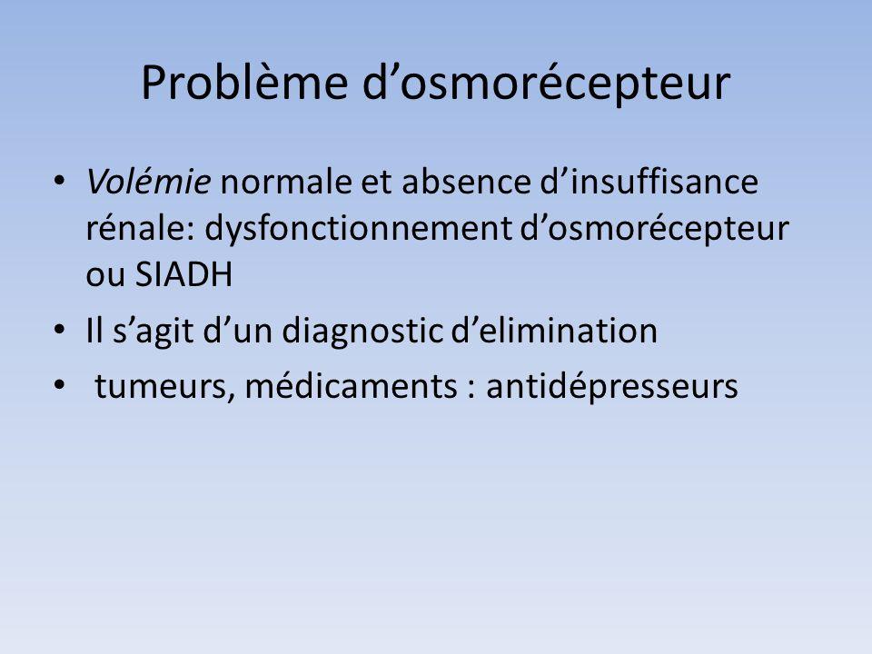 Problème d'osmorécepteur