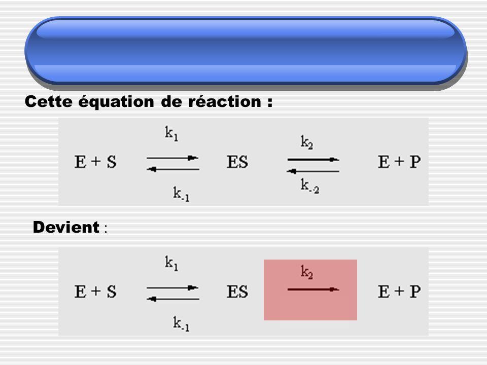 Cette équation de réaction :