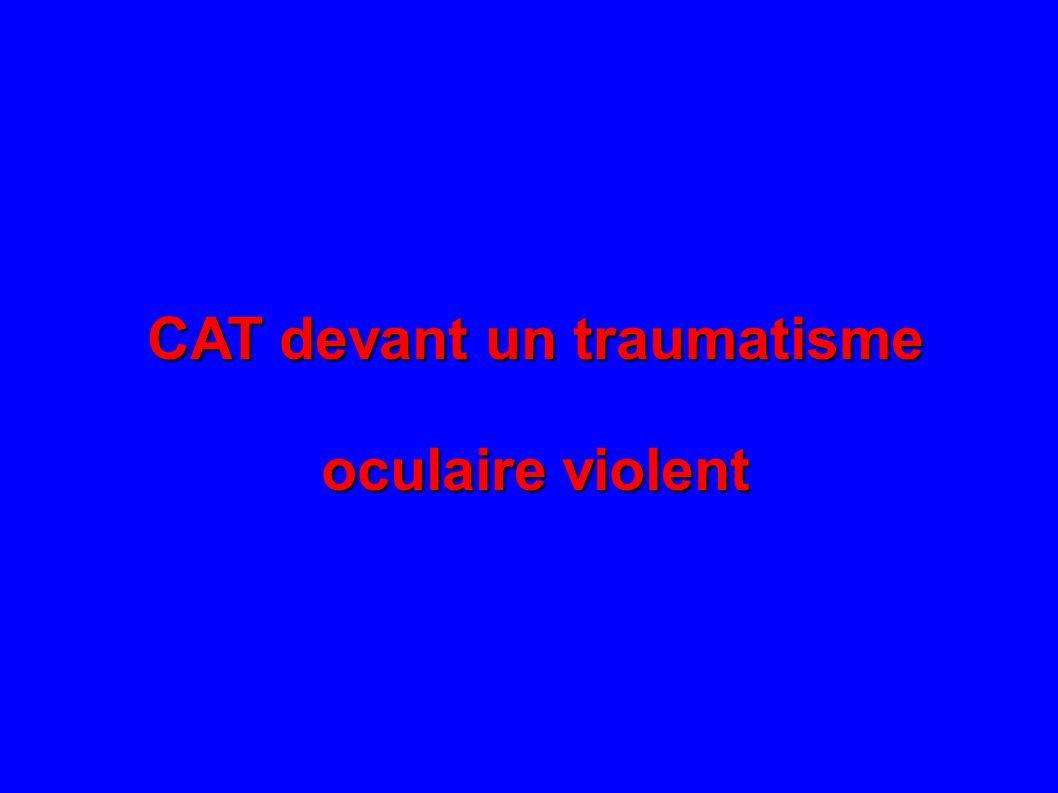 CAT devant un traumatisme