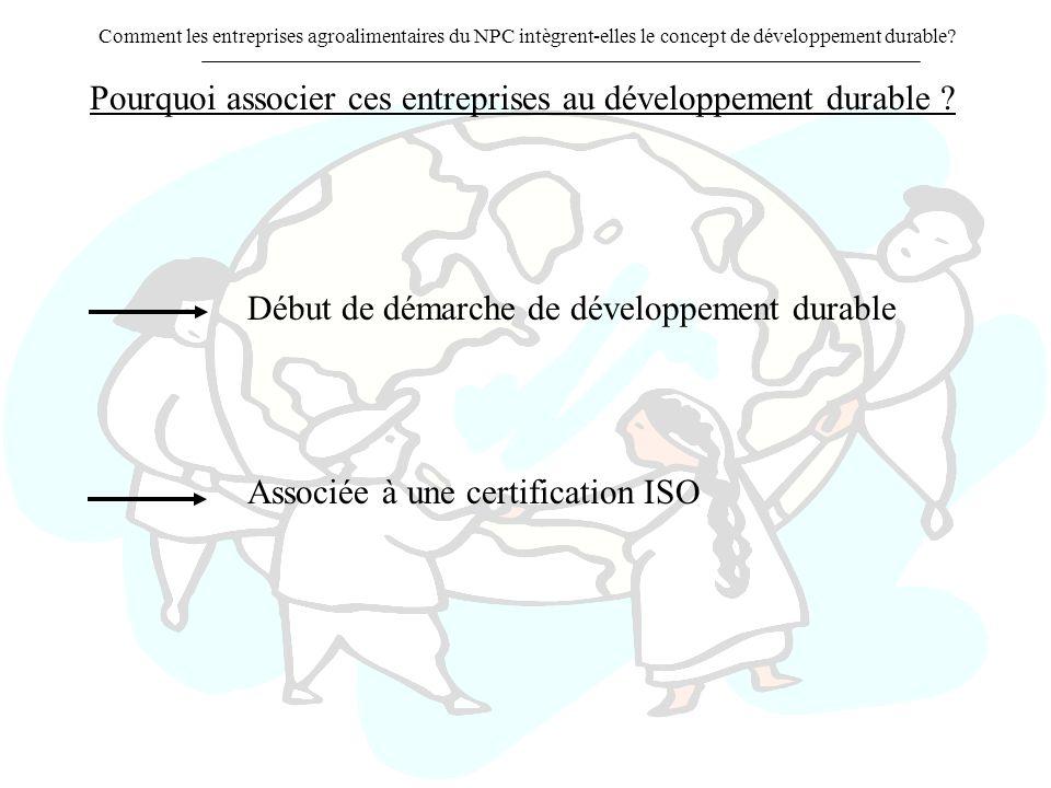 Pourquoi associer ces entreprises au développement durable