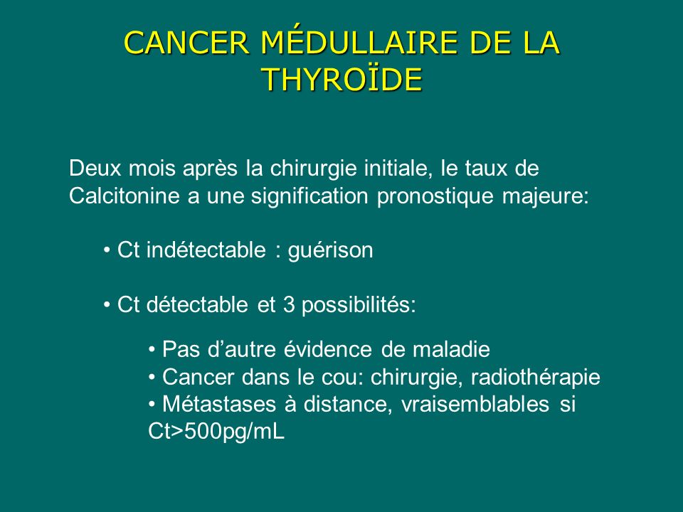 CANCER MÉDULLAIRE DE LA THYROÏDE