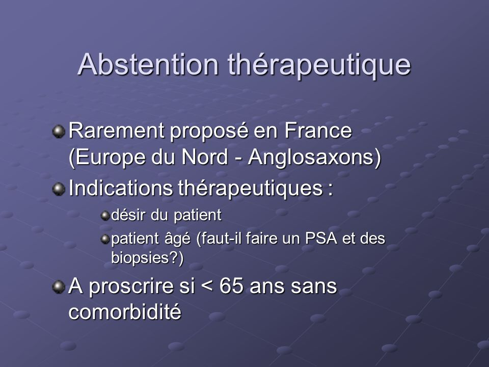 Abstention thérapeutique
