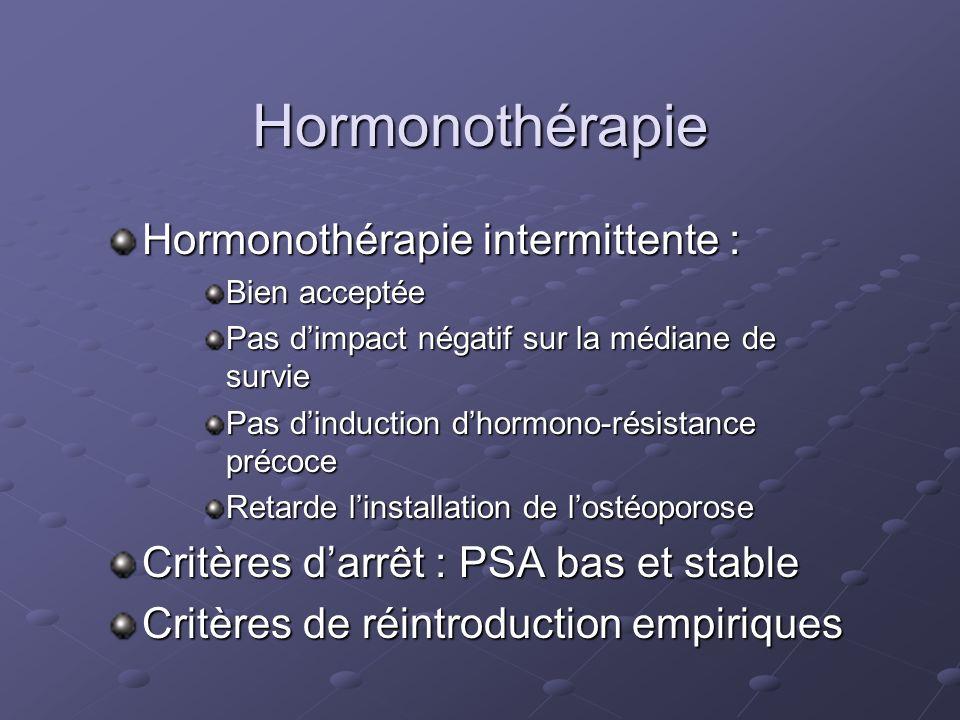 Hormonothérapie Hormonothérapie intermittente :