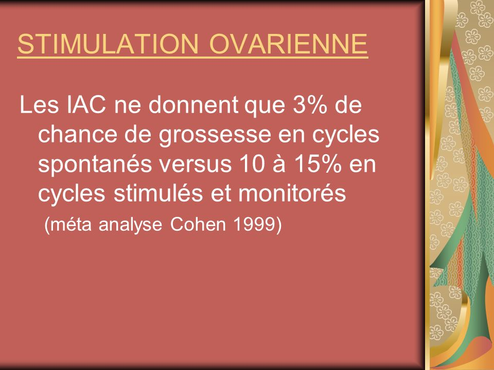 STIMULATION OVARIENNE