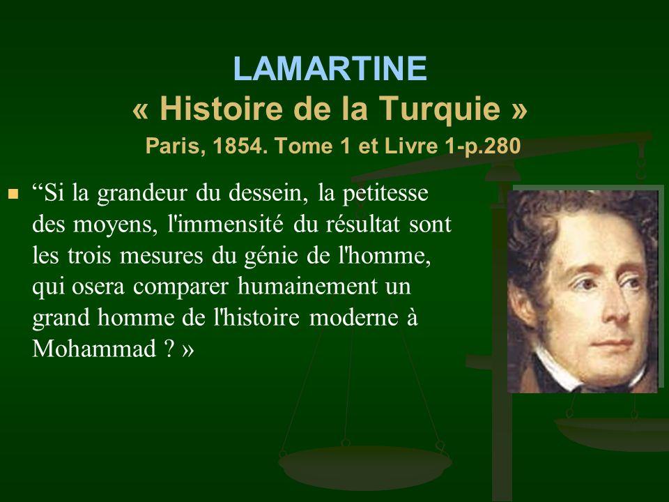 LAMARTINE « Histoire de la Turquie » Paris, 1854. Tome 1 et Livre 1-p