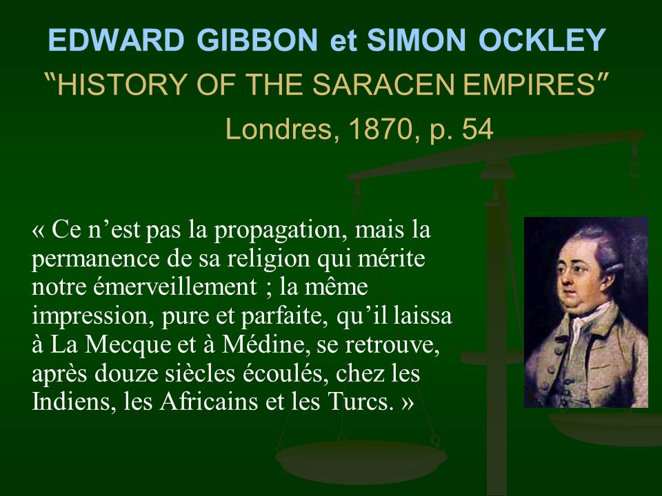 EDWARD GIBBON et SIMON OCKLEY HISTORY OF THE SARACEN EMPIRES
