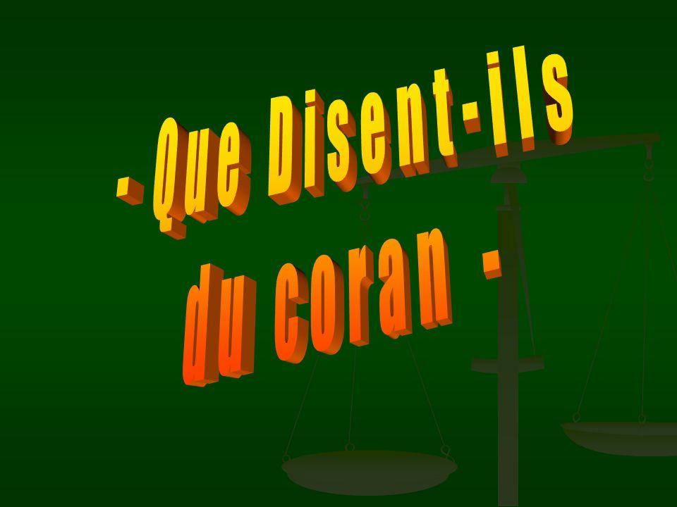 - Que Disent-ils du coran -