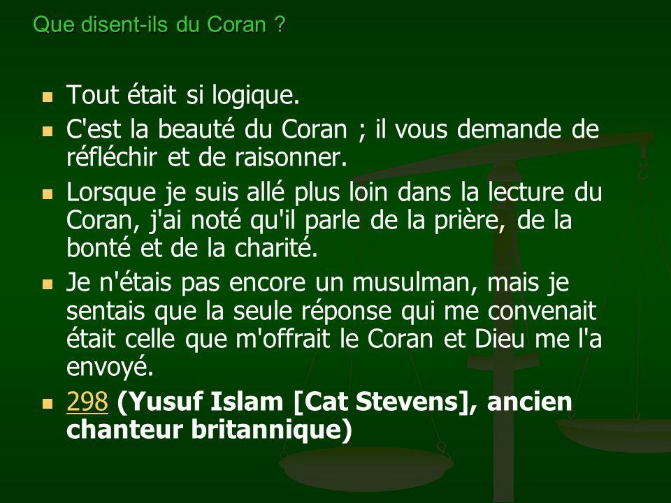 Que disent-ils du Coran