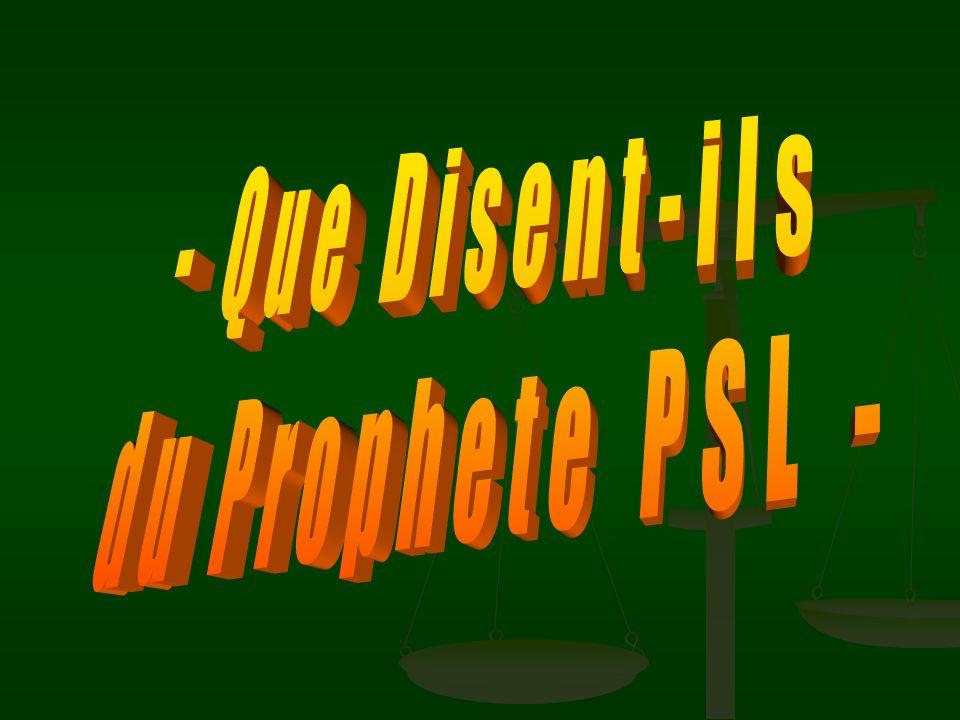 - Que Disent-ils du Prophete PSL -