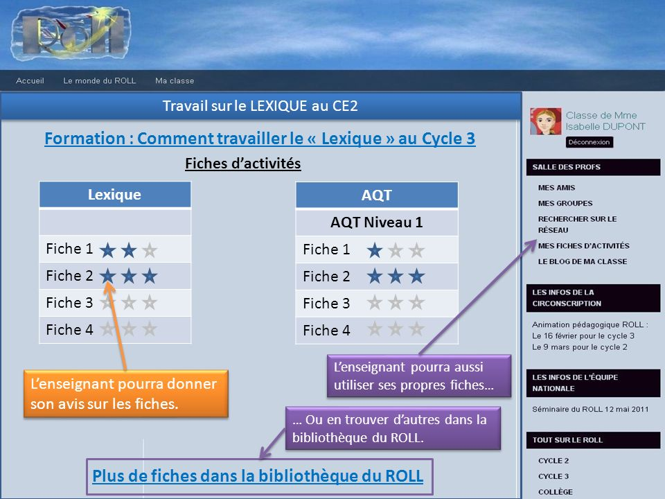 Formation : Comment travailler le « Lexique » au Cycle 3