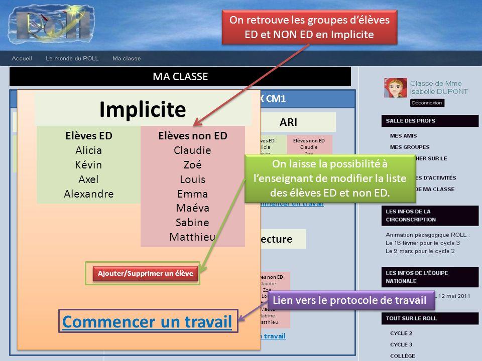 RESULTATS DETAILLES DES TESTS INITIAUX CM1