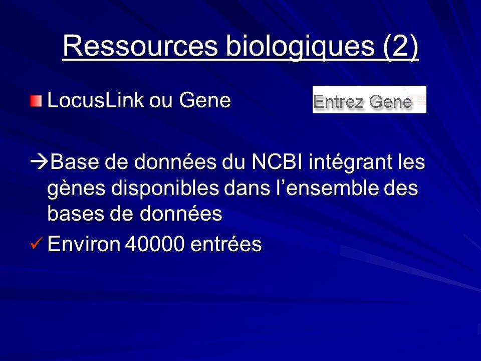 Ressources biologiques (2)