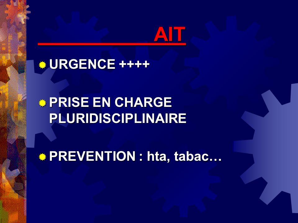 AIT URGENCE ++++ PRISE EN CHARGE PLURIDISCIPLINAIRE