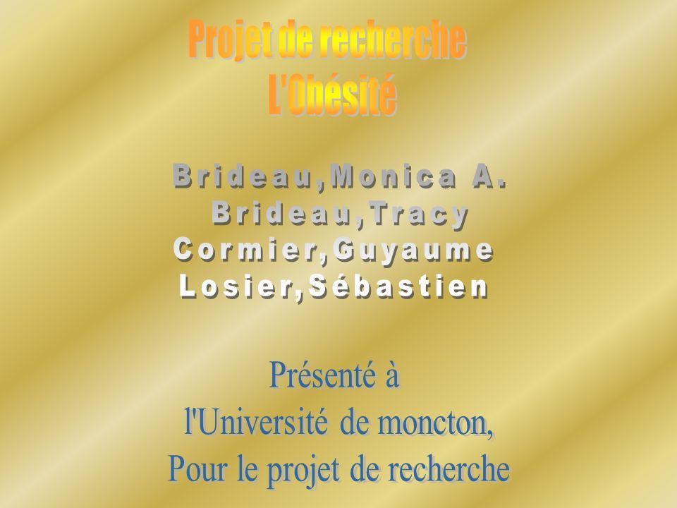 l Université de moncton, Pour le projet de recherche