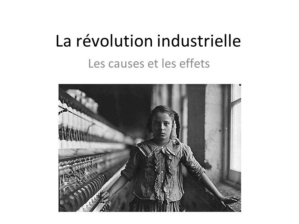 La révolution industrielle