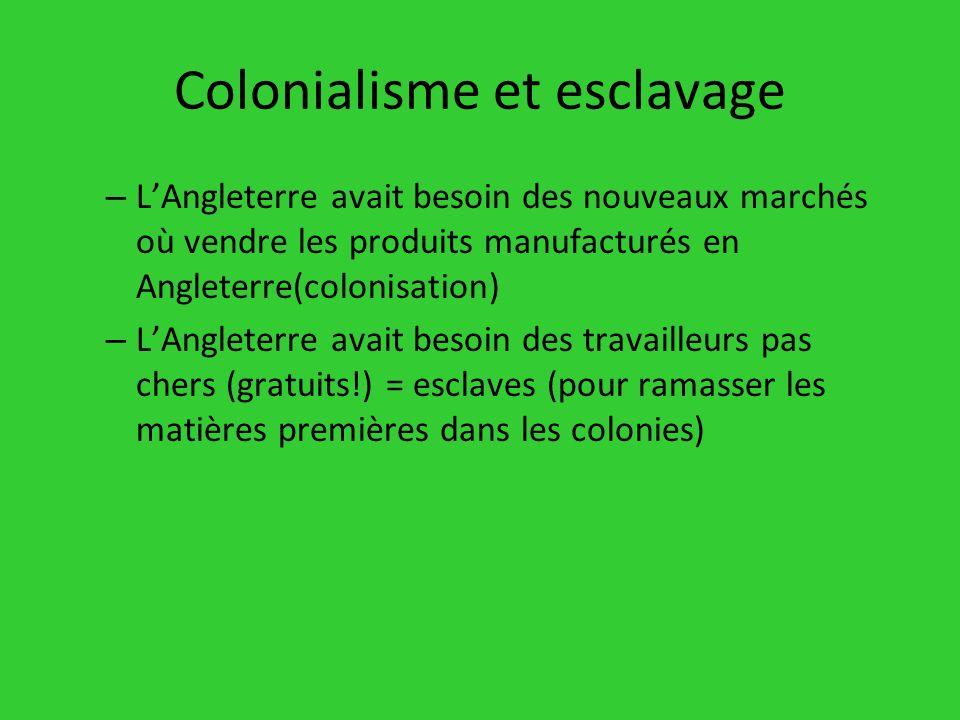 Colonialisme et esclavage